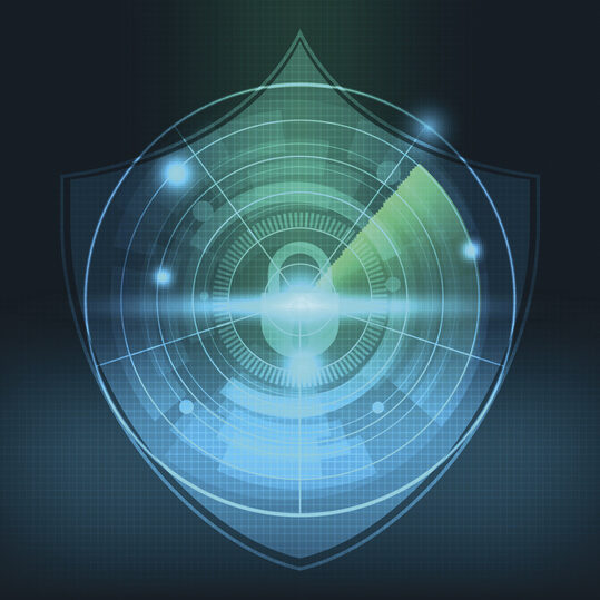 abstract technology network security background vector illustration